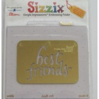 Пластина для эмбоссинга simple impressions embossing  Best Friends 38-9660 Sizzix
