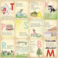 Бумага 30*30 см Girl Nursery Rhymes CBBMG26003